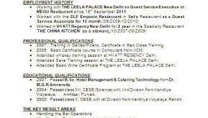 Resume format for Hotel Management Fresher Pdf Image Result for Resume format for Hotel Management