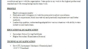 Resume format for Iti Fresher Iti Fresher Resume format In Word Free Download