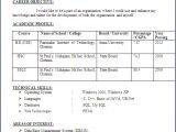Resume format for Iti Fresher Iti Student Resume format Anjinho B