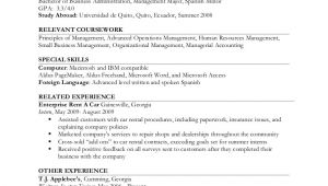 Resume format for Job Experience Resume Example Ii Limited Work Experience