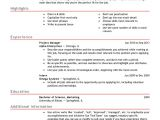 Resume format for Job Free Professional Resume Templates Livecareer
