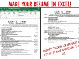 Resume format for Job In Excel Sheet Make A Resume Cv Using Excel Fast attractive and Easy