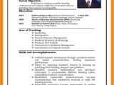 Resume format for Job Interview 6 Cv Pattern for Job theorynpractice