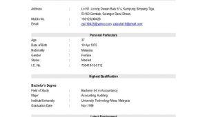 Resume format for Job Sample Of Job Resume format Sample Resumes