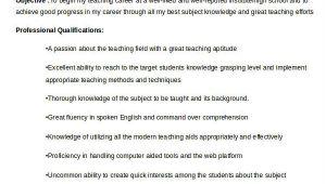 Resume format for Kindergarten Teacher Fresher Teacher Resume Sample 37 Free Word Pdf Documents