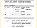 Resume format for Lecturer Word India Resume format In Word Teacher Resume Template