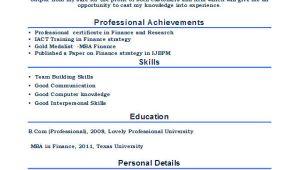 Resume format for Mba Fresher 28 Free Fresher Resume Templates Free Premium Templates