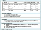 Resume format for Mba Freshers Free Download Over 10000 Cv and Resume Samples with Free Download Mba