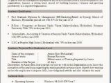 Resume format for Mba Freshers Free Download Resume Templates