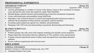Resume format for Mechanical Engineer Resume format February 2016