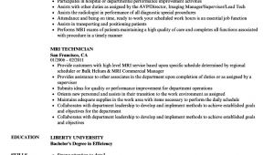 Resume format for Mr Job Mri Technician Resume Samples Velvet Jobs