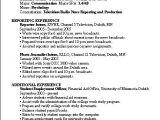 Resume format for News Reporter Fresher Television Reporter Resume Sample that Impress