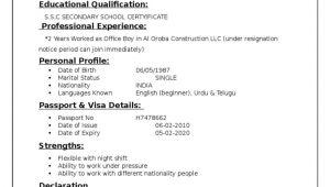Resume format for Office Boy Job Resume Office Boy