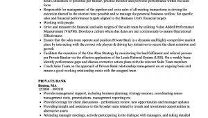 Resume format for Private Job Private Bank Resume Samples Velvet Jobs