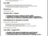 Resume format for Railway Job Track Worker Cv Sample Myperfectcv