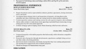 Resume format for Real Estate Job Real Estate Resume Writing Guide Resume Genius