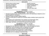 Resume format for Receptionist Job Best Receptionist Resume Example Livecareer