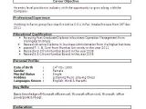 Resume format for Teacher Job In India Best Resume formats for India Download