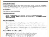 Resume format for Teaching Job In College 10 Cv format Teachers Job theorynpractice