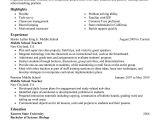Resume format for Teaching Job In College Best Summer Teacher Resume Example Livecareer