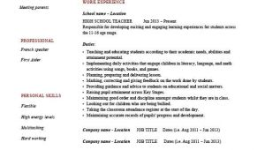 Resume format for Teaching Job In College High School Teacher Resume Template Example Sample