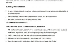Resume format for Teaching Job In School Teacher Resume Templates 43 Free Samples Examples