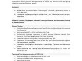 Resume format for Testing Freshers 01 Testing Fresher Resume