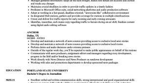 Resume format for Tv Anchor Fresher Anchor Resume Samples Velvet Jobs