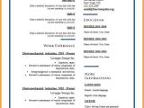 Resume format In English Word 6 English Resume Template Word Penn Working Papers