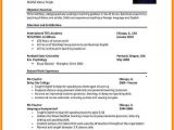 Resume format In English Word 9 Cv In English Word format theorynpractice