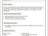 Resume format In Hindi Word In Platte Sunga Zette