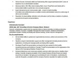 Resume format In Word for Admin Executive 12 Word Administrative assistant Resume Templates Free