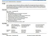 Resume format In Word for Admin Executive Free 8 Sample Administrative assistant Resume Templates