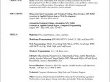 Resume format Office Word College Resume Template for Microsoft Word 2007 Free