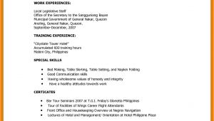 Resume format Sample for Job Application Philippines 6 Cv format Philippines theorynpractice