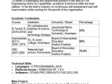 Resume format Word for Engineering Freshers 40 Fresher Resume Examples