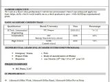 Resume format Word for Engineering Freshers A Resume format for Fresher Resume format Download