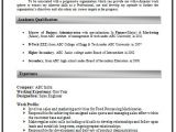 Resume format Word for Experienced It Professionals How to Write An Excellent Resume Sample Template Of An