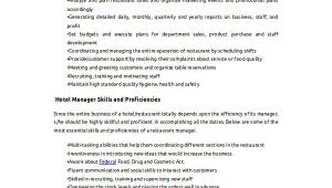 Resume format Word for Hotel Job Sample Objective 40 Examples In Pdf Word