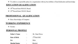 Resume format Word normal Image Result for Cv format normal Microsoft Word Basic