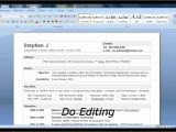 Resume format Word Youtube How to Make Resume In Word 2007 Youtube