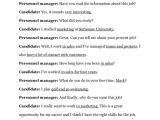 Resume Job Interview Dialogue Example Job Interview Dialogue