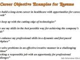 Resume Objective for Job Interview Sample Career Objectives Examples for Resumes