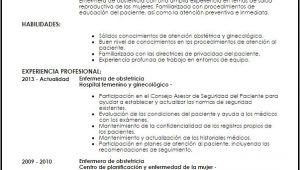 Resume Profesional De Enfermeria Modelo Curriculum Vitae Enfermera De Obstetricia