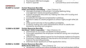 Resume Sample for Human Resource Position 7 Amazing Human Resources Resume Examples Livecareer