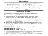 Resume Sample for Pharmacy assistant Midlevel Pharmacy Technician Resume Sample Monster Com