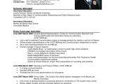Resume Sample format for Job 12 Example Of Job Applying Resume Penn Working Papers