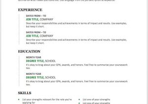 Resume Sample Word Doc 25 Free Resume Templates for Microsoft Word How to Make