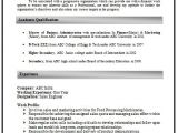 Resume Samples for Experienced Marketing Professionals How to Write An Excellent Resume Sample Template Of An
