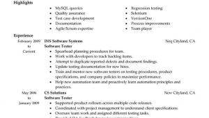 Resume Samples for Experienced Testing Professionals Resume Templates for Experienced software Testing